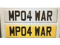 """MP04 WAR"" Cherished number plate"