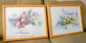 Beech framed Pastel Prints by Heinz Hofer