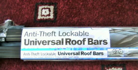 NEW UNOPENED ANTI -THEFT, LOCKABLE, UNIVERSAL ROOF BARS