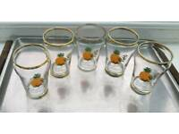 BRITVIC PINEAPPLE FRUIT JUICE GLASSES