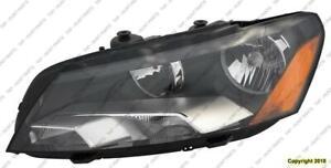 Head Light Driver Side Halogen High Quality Volkswagen Passat 2012-2015