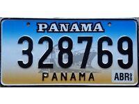Panama Number Plate