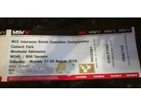 BSB tickets Cadwell Park 27/8 - 29/8