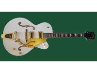 Gretsch G540T & Chet Atkins Tremolo Arm - Snowcrest White with Gold finish Hardware