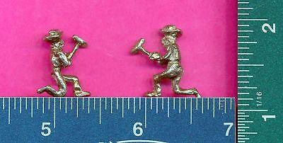 100 wholesale lead free pewter miner figurines m11119