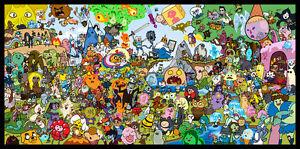 Adventure Time Cartoon TV Fabric Art Cloth Poster 24inch x 13inch Decor5