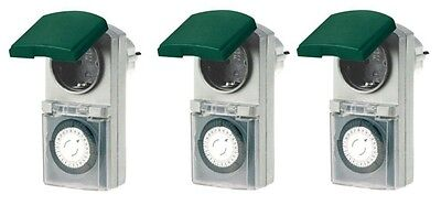 3er Set Zeitschaltuhr, mechanisch IP44, 16 A für Außen TOP