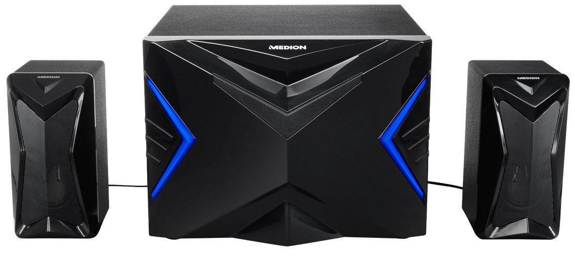 MEDION ERAZER X89015 MD87250 2.1 Gamer Sound System Lautsprecher Boxen Subwoofer