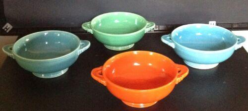 5 Vintage Fiesta Tab Cream Soup Bowls - $85.00