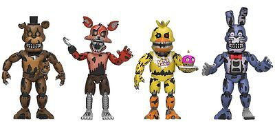 New 2017 Five Nights At Freddys 4 Pack 2  Mini Figure Serie 3 Nightmare Version