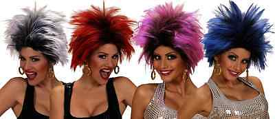 80s Rocker Chick (Ladies Punk Rocker Urban Wig Diva 80s 90s Glam Rock Chick Tina Turner Fancy)