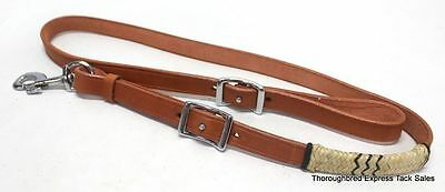 D.A. Brand Natural Leather Tie Down Strap w/Rawhide Accents horse tack