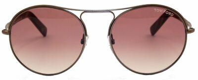Tom Ford Damen Herren Sonnenbrille FT449 49T 54mm Jessie kupfer rund  444 100