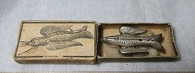 metal BIRD WORK & SKEIN lap holder & original box;Antique c1863,made in USA,RaRe
