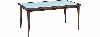 Outdoor-tisch Mit Glas (OBI Outdoor Living Gartentisch Davenport mit Glasplatte Graphit 75 cm x 160 cm x)