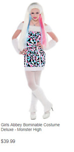 Girls Abbey Bominable Costume Deluxe - Monster High