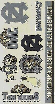 NCAA College NORTH CAROLINA University Temporary Tattoos Sheet by Wincraft Inc - North Carolina Tattoos