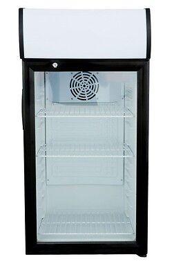 Countertop Display Refrigerator Merchandiser - 3 Cu. Ft. - Black - Led Lighting