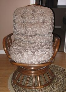 Rattan swivel rocker almost new never used
