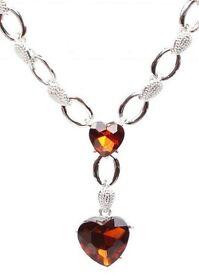 Beautiful Heart Dangle Necklace