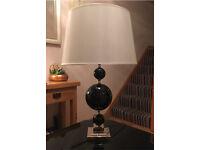 Huge black & white table lamp