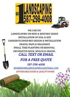 Landscaping, Soil and Sod Installation, Etc