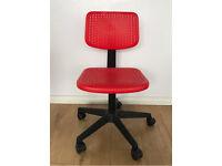 Ikea kids swivel chair red