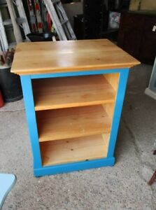 Painted Pine Microwave Stand/Kitchen Island/Bar/Coffee Station