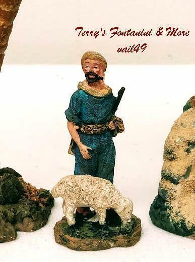 "BETHLEHEM NATIVITY VILLAGE 2.5"" SERIES SHEPHERD STANDING FIGURE USE w/FONTANINI"