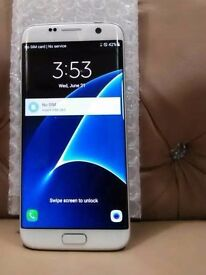 Unlocked Galaxy S7 edge like new ** White colour**