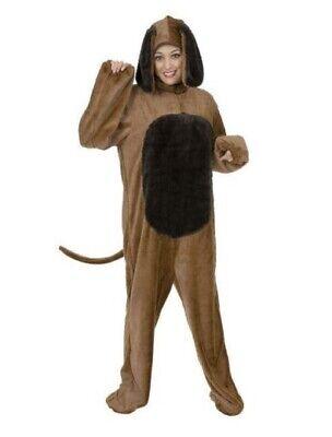 Big Brown Dog Costume Canine Animal Adult Hood Men Women Pet Unisex Plus Size 1x ()