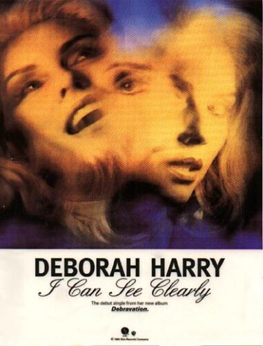 DEBORAH HARRY – I Can See Clearly 1983 Vinyl Window Poster