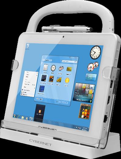 "windows tablet - Cybernet Cybermed T10C 9.7"" Medical Grade Tablet PC Windows 10 White"