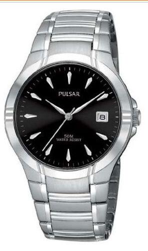 Pulsar PG8099 Men's Dress Sport Stainless Steel Black Dial Watch