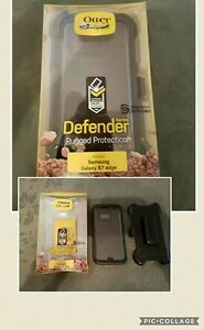 Samsung S7 Edge Black Otter Defender Case.