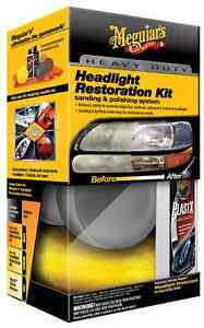 meguiar 39 s heavy duty headlight cleaning restoration protectant kit with plastx ebay. Black Bedroom Furniture Sets. Home Design Ideas