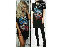 Rock Chick Choker T Shirt Dress