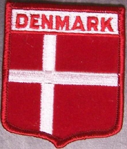 Embroidered International Patch National Flag of Denmark NEW bunting