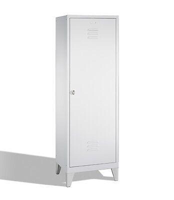 Garderobenschrank f. 1 Person 2 Abteile hinter 1 Tür Abteilbreite 300mm Füße