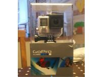 GoPro Hero 4 Silver, boxed. Excellent condition.