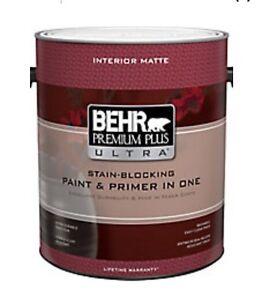 Peinture neuve Behr, 6 gallons achetés en trop