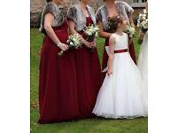 3 grey fur shrugs bridesmaid/ball