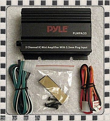 New PYLE PLMPA35 2 Ch 300W Car or Motorcycle Mini Amplifier w/ 3.5 mm Input Amp on Rummage