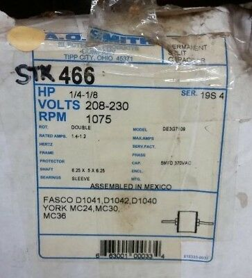 Ao Smith 466 14 Hp Permanent Split Capacitor Double Shaft Enclosed Motor