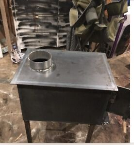 Wood stove for ice shack