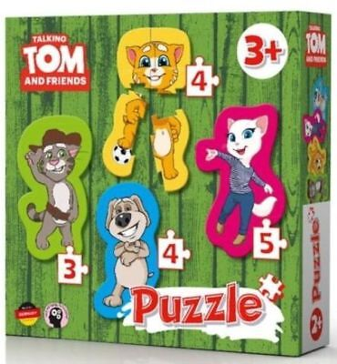 Talking Tom 4 Form Jigsaw Puzzles 16 pieces Age 3+ Tom Angela Ginger Ben NEW ()