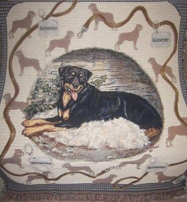 New Rottweiler Lover Afghan Tapestry Throw Blanket Dog Picture Gift Rotti (Dogs Tapestry Throw Blanket)
