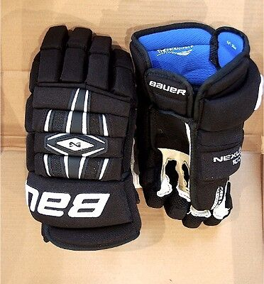 "NEW Bauer Nexus 1000 Mens Hockey Gloves Senior Adult 14"" (Black) 14.0 BRAND NEW"