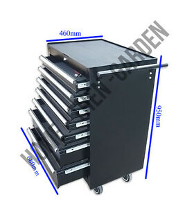 LARGE PROFESSIONAL GARAGE TOOL CHEST ROLLCAB BOX WITH US BALL BEARING SLIDES DRA