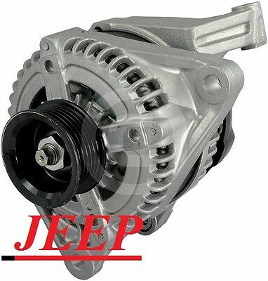 Nitro V6 3.7L 226cid VIN K 2007-2010 Liberty Cherokee 240 HIGH AMP HD ALTERNATOR